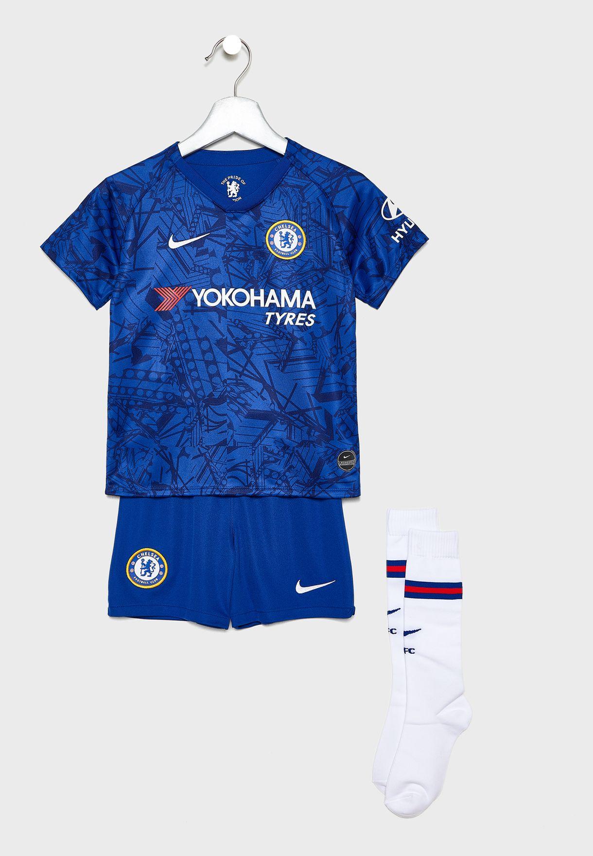 NIKE FC Chelsea London Breathe T Shirt Kinder (495) in Blau