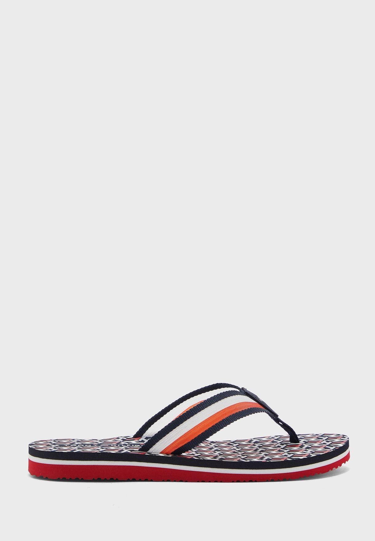 Monogram Flat Sandals