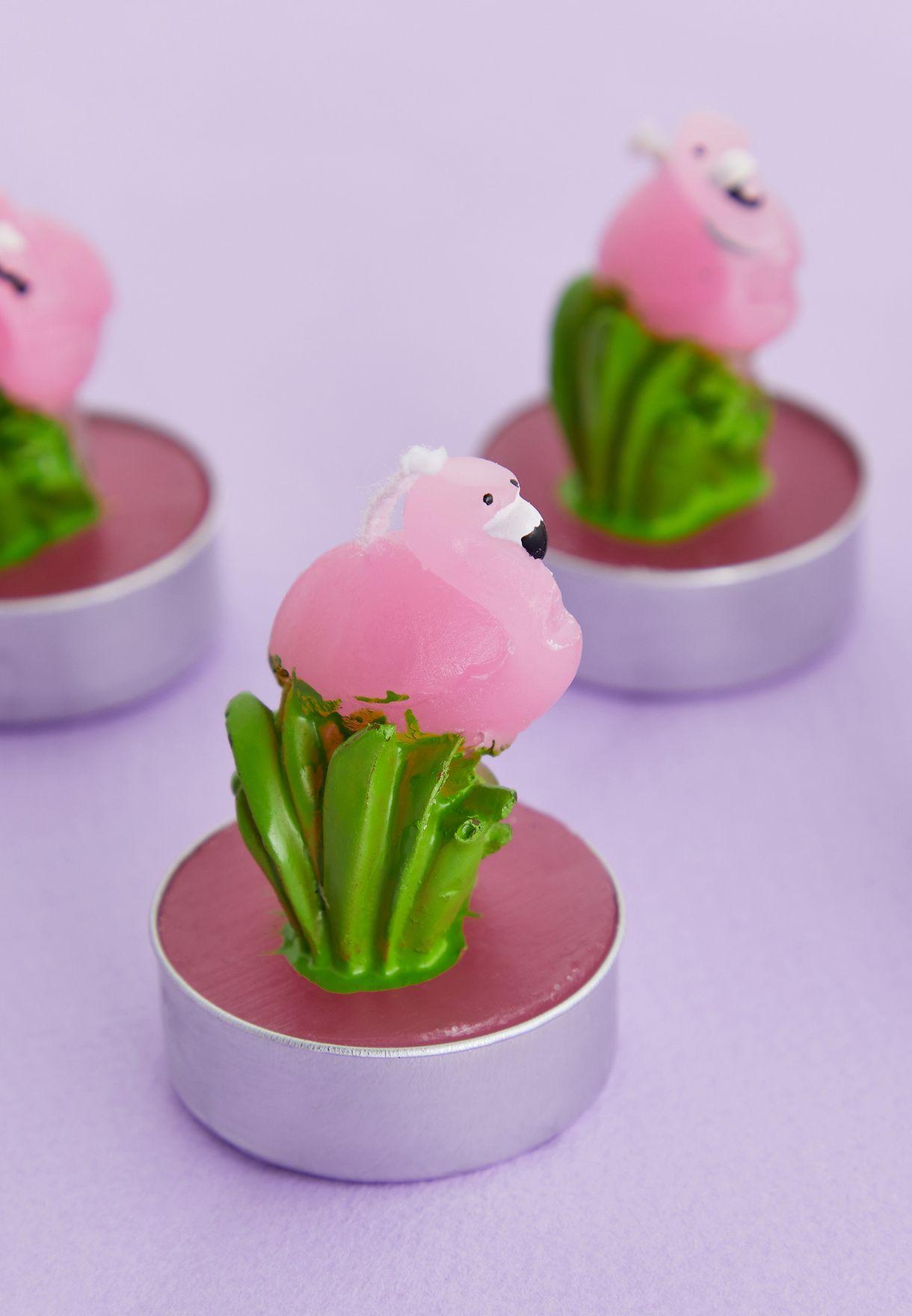 Flamingo Shape Candles - Set of 6