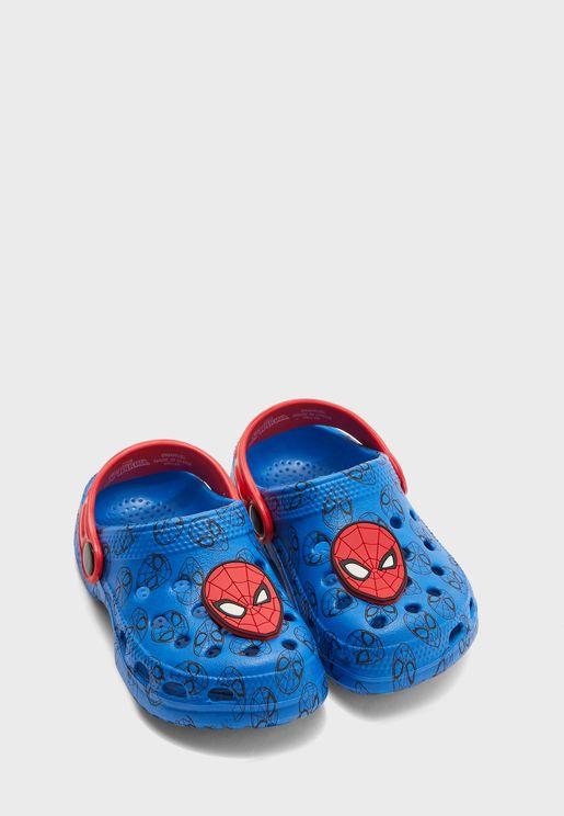 Kids Spiderman Clog Sandal