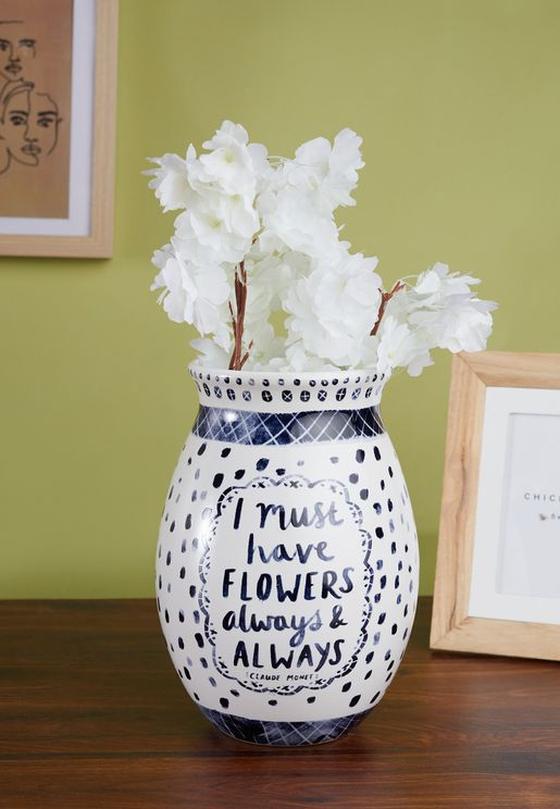 I Must Have Flowers Vase