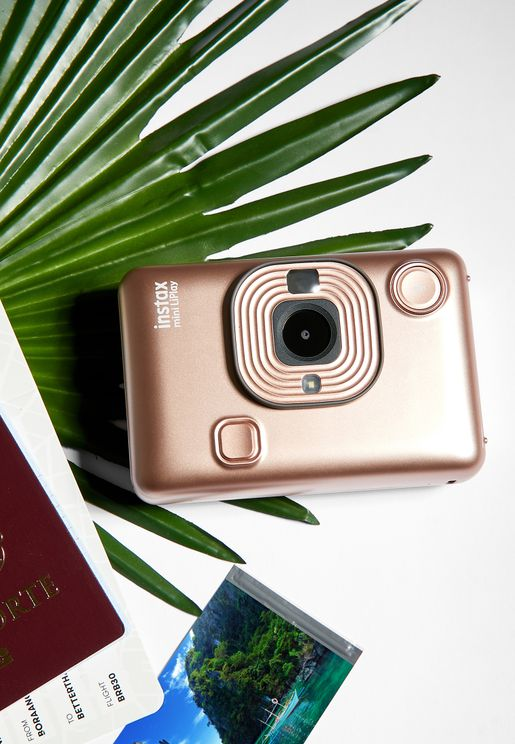 Instax Mini LiPlay Camera- Blush Gold