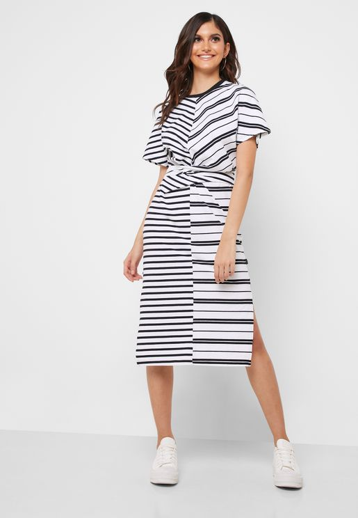 Printed Colorblock Dress