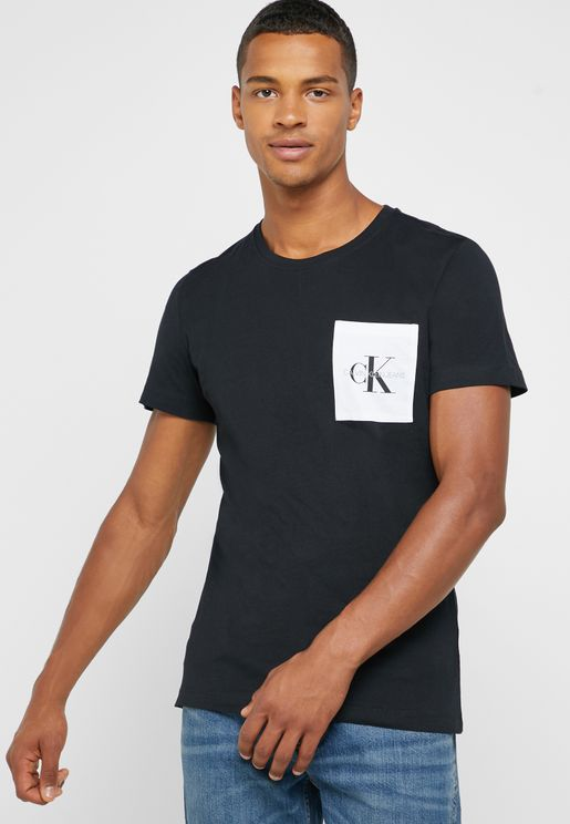 Logo Pocket Crew Neck T-Shirt
