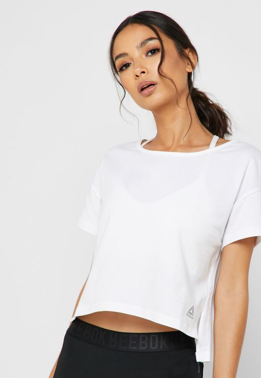 Combat Perforated Cropped Top