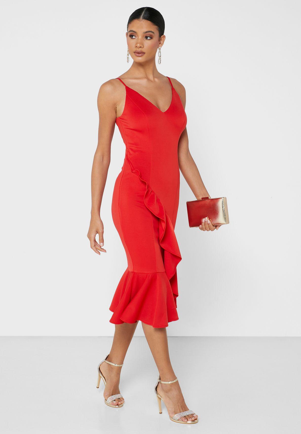 Taleah Ruffle Trim Dress