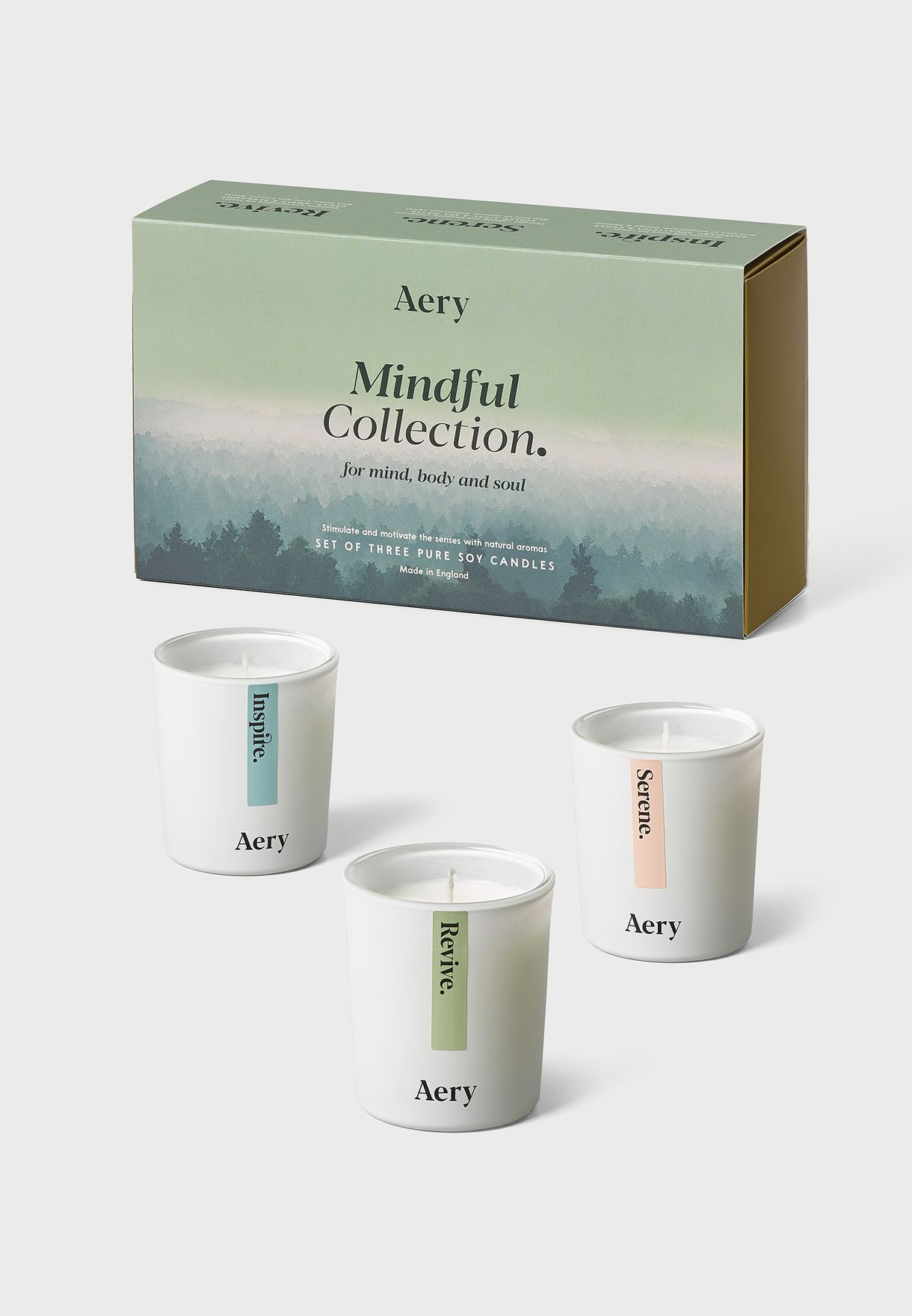 Set Of 3 Heavily Mindfulness Candle Gift Set