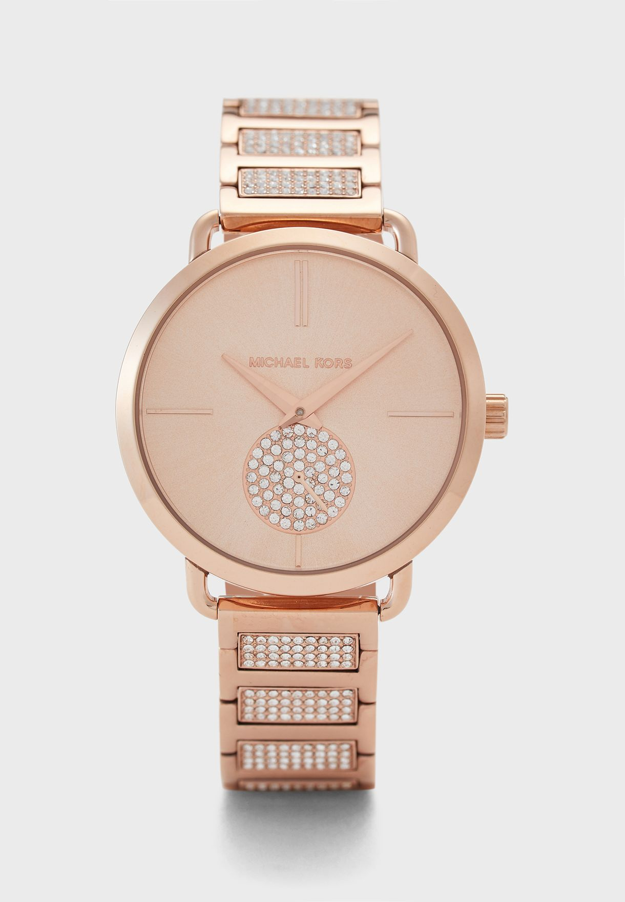 Rose Gold Stainless Steel Watch