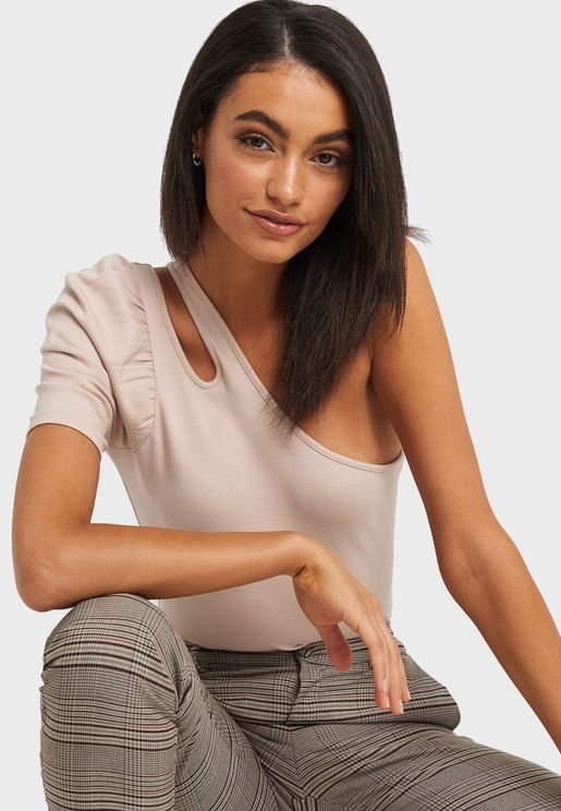 Cut Out One Shoulder Top