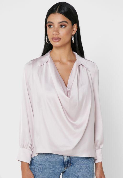 Molly Cowl Neck Shirt