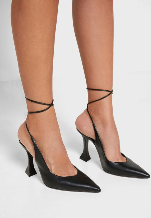 Tie Strap High Heel Pump