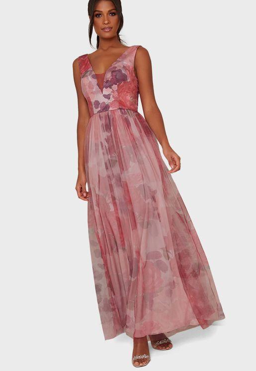 Printed Skirt Dress
