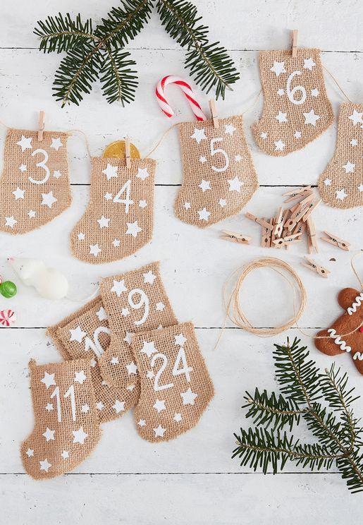 Stocking Christmas Advent Calendar