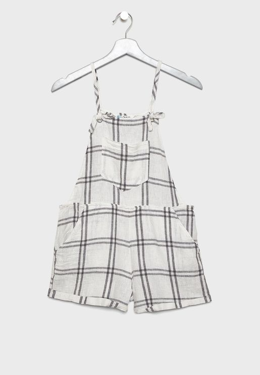 Teen Cami Checked Playsuit