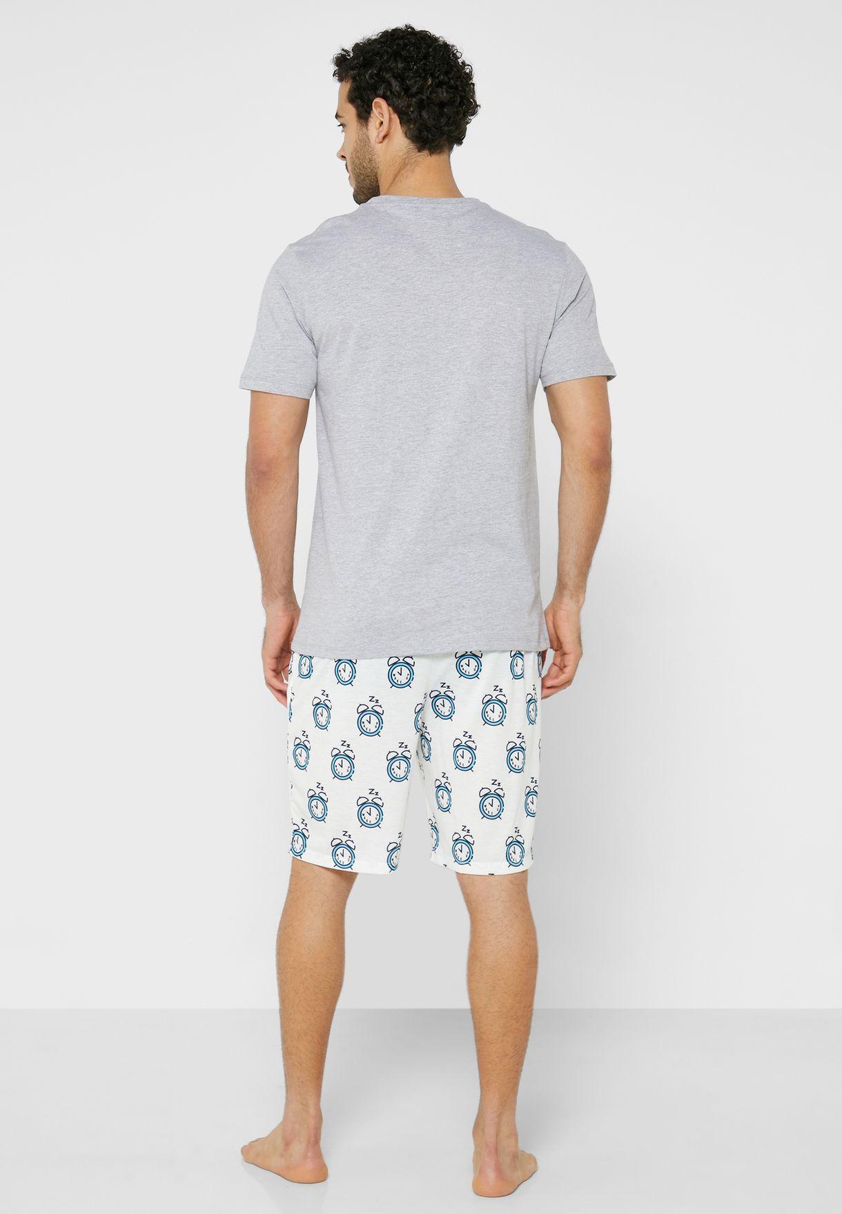 Printed T-Shirt & Short Pyjama Set