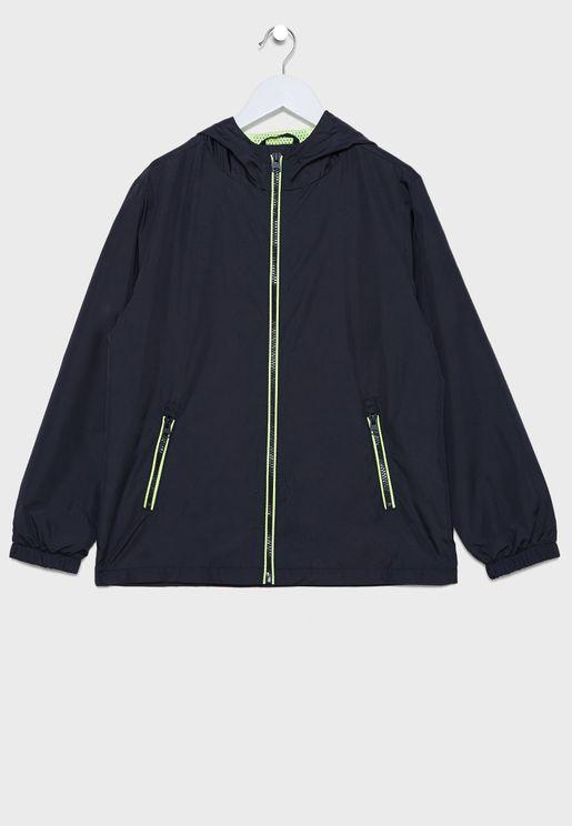 Kids Hooded Zip Up Jacket