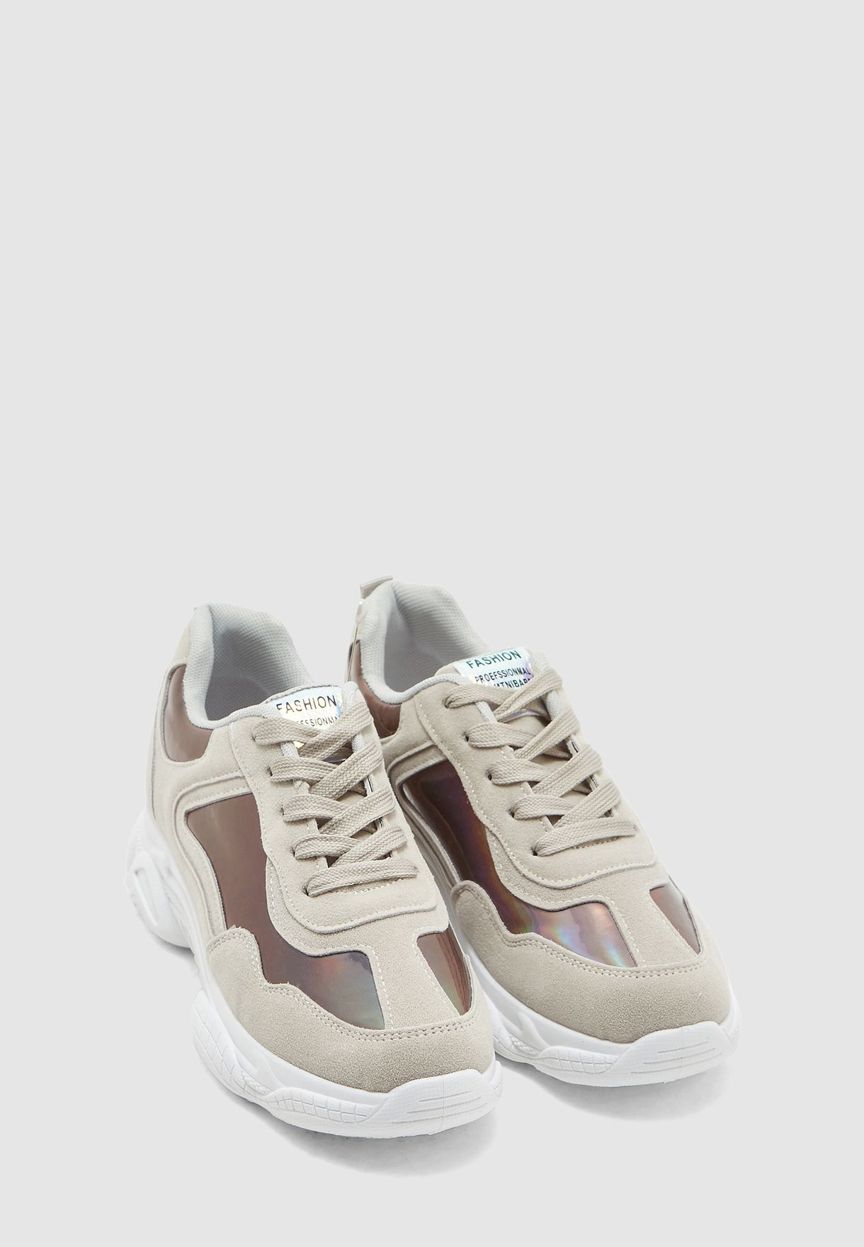 Holographic Panel Chunky Sneaker