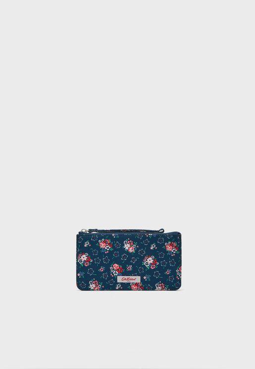 محفظة مزينة بطباعة ازهار