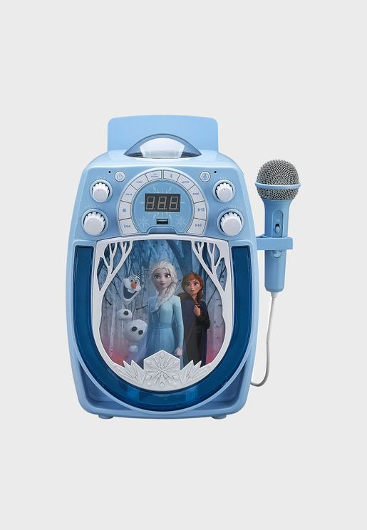 Frozen Karaoke With Snowflake Projector & Microphone