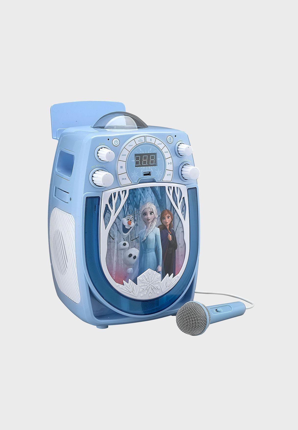 Frozen Karaoke With Snowflake Projector & Microphone