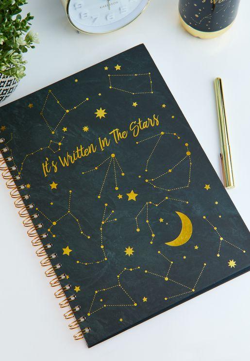 A4 It's Written In The Stars Notebook