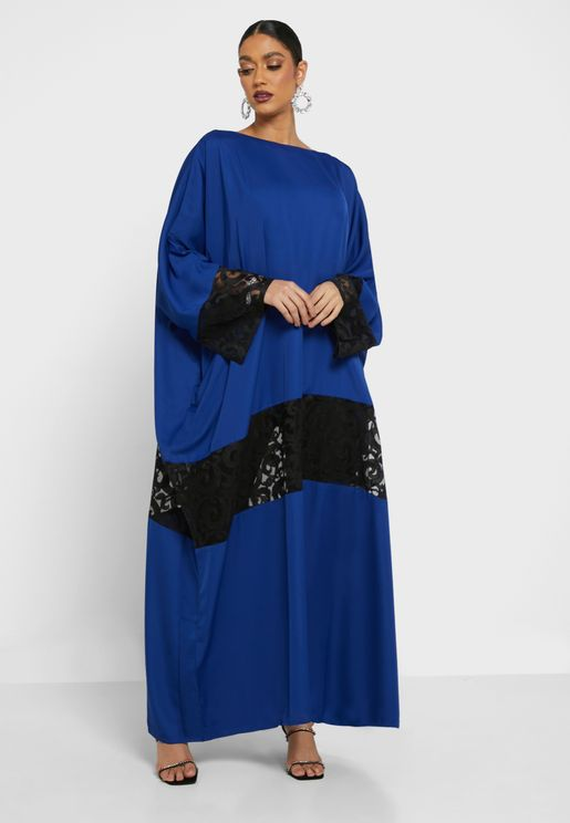 Mesh Detail Abaya