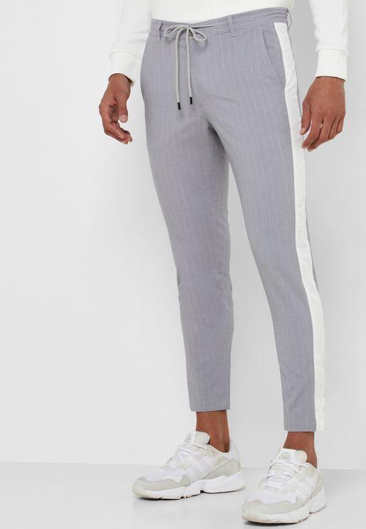 Side Stripe Drawstring Trousers