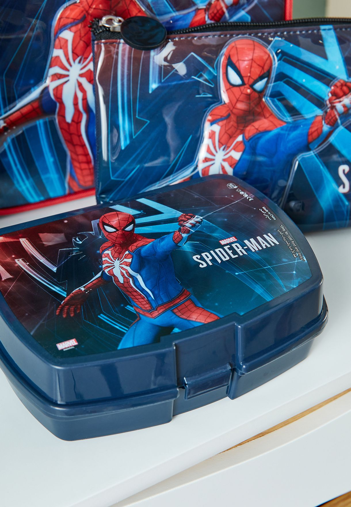 Spider-Man School Trolley Bag Set
