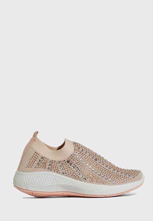 حذاء كاجوال باحجار الراين