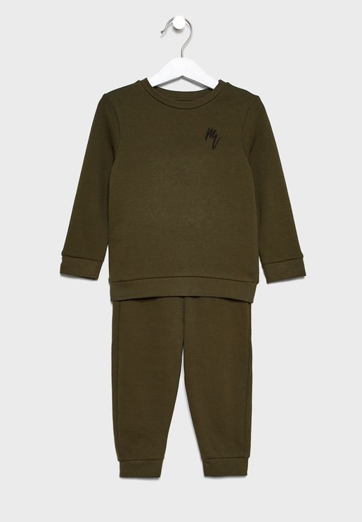 Infant Embroidered Sweatshirt + Sweatpant Set