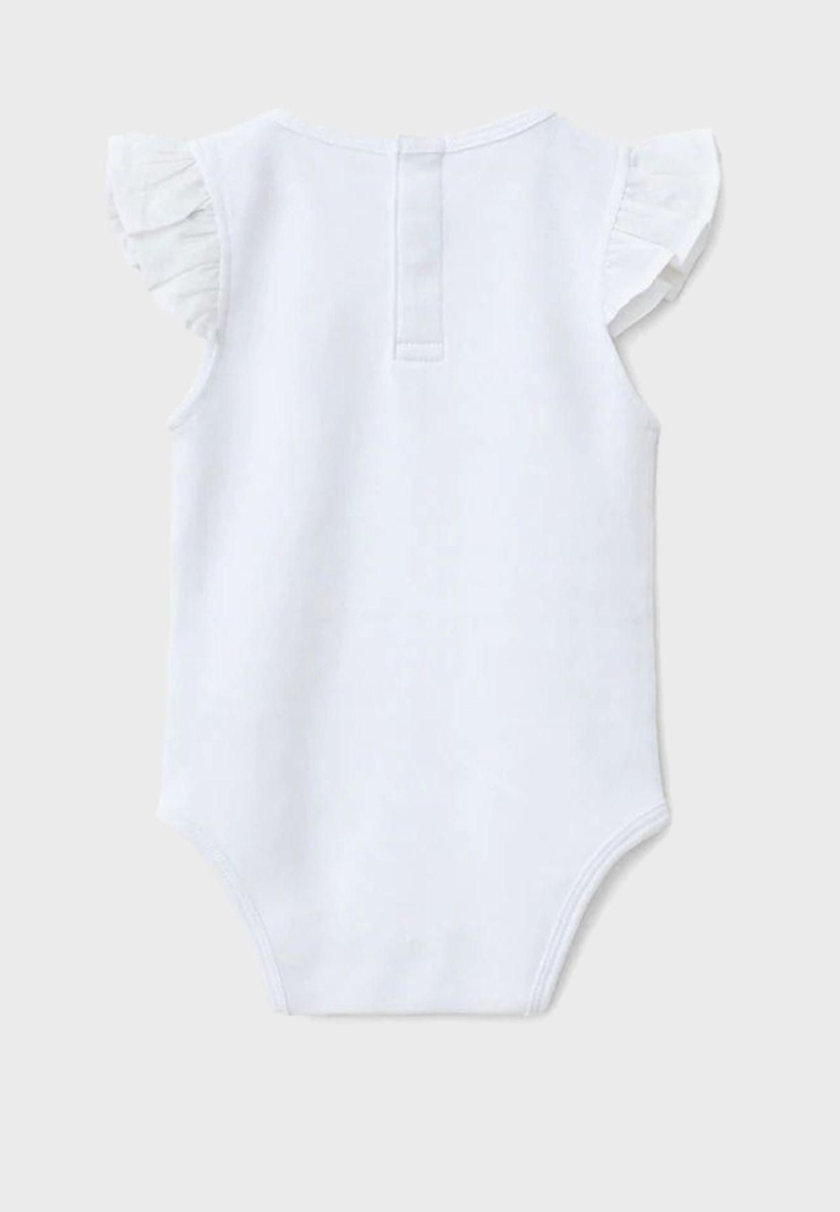 Infant Ruffle Sleeve Bodysuit