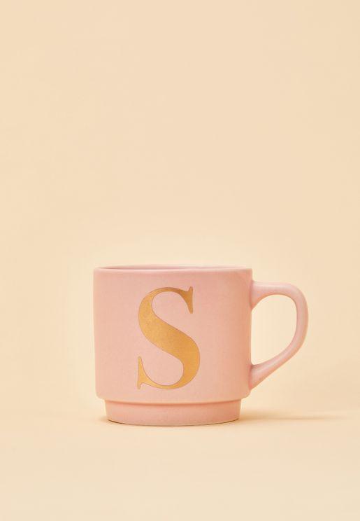 S Initial Signet Mug