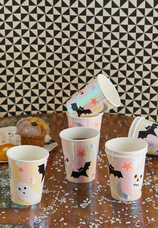 Halloween Spooky Cups Pack of 8