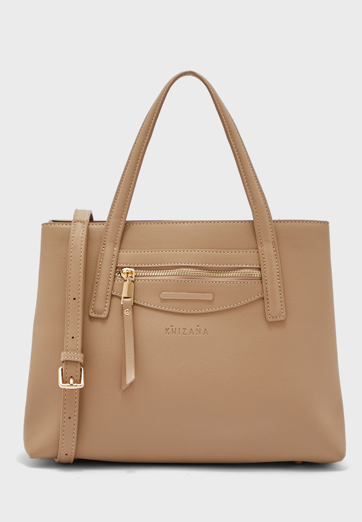 Handle And Zip Detail Satchel