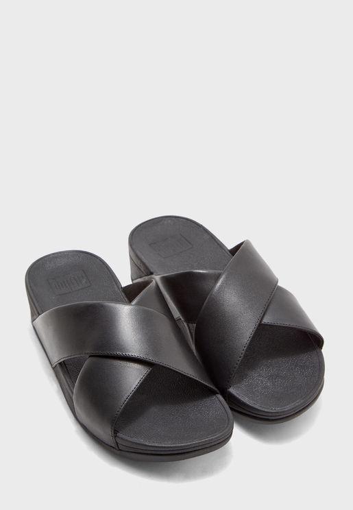 Lulu Cross Wedge Sandal