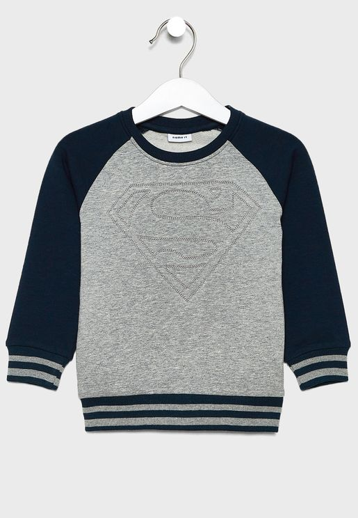 Kids Color Block Sweatshirt