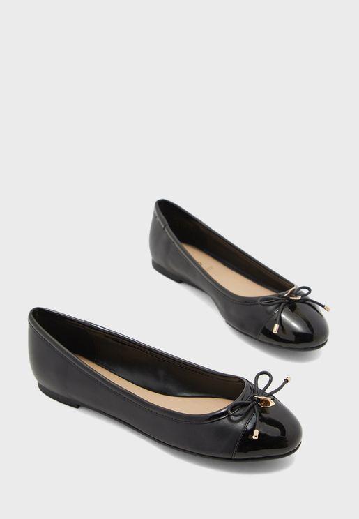 Amoreira Flat Sandal - Black