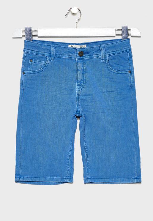Kids Hem Folded Shorts