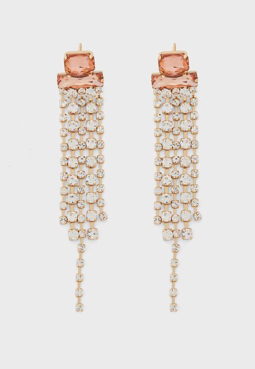 Diamante Waterfall Drop Earrings