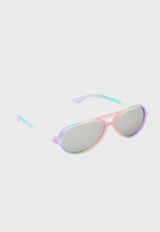 Youth Rainbow Aviator Sunglass