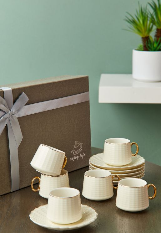 Gold Trim Tea Set