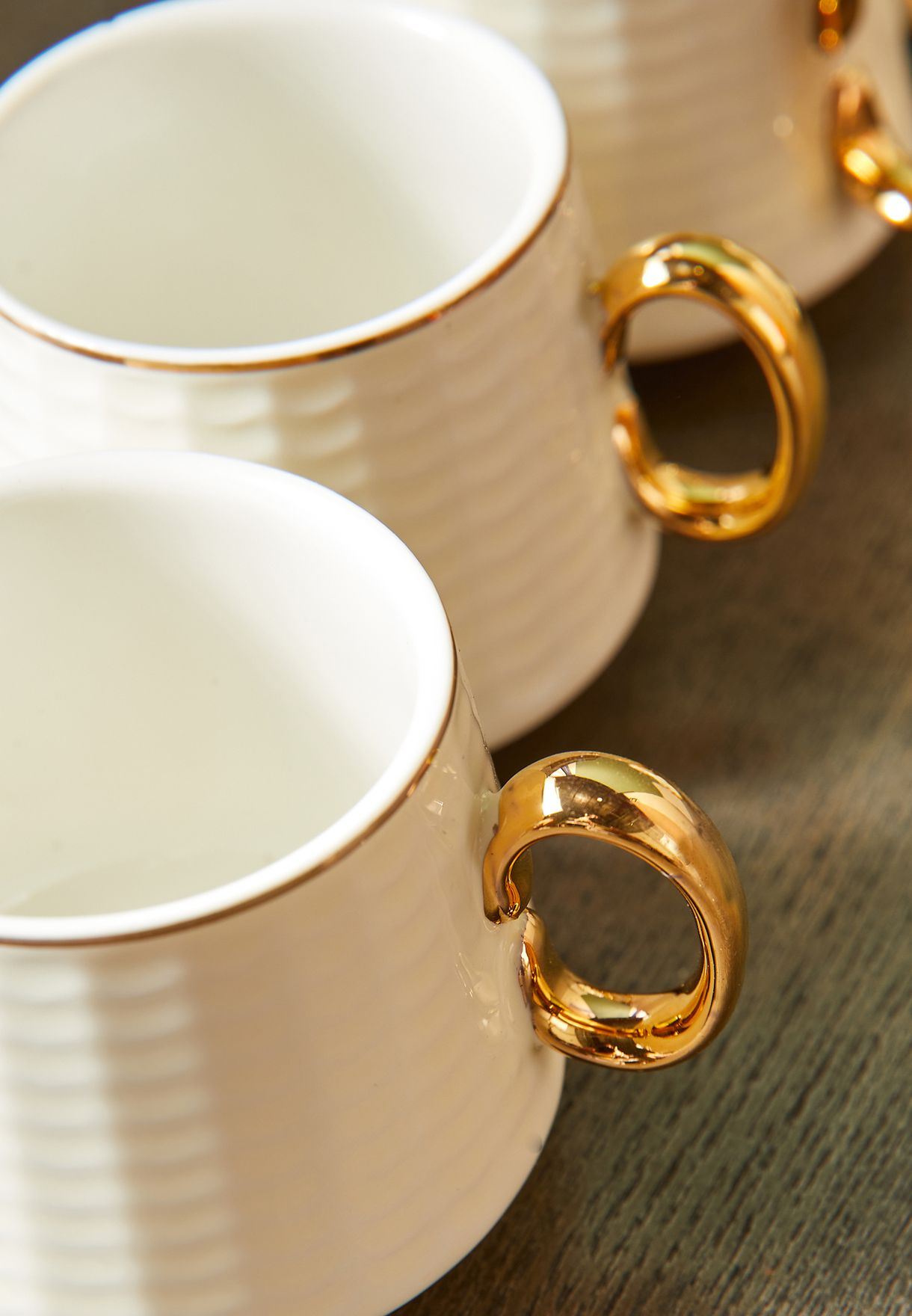 طقم اكواب شاي مع صحون 6 قطع