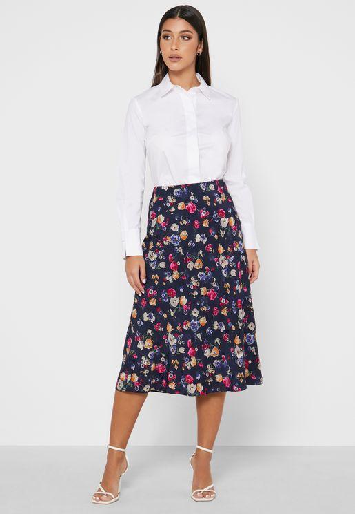 Sharae Floral Print Skirt