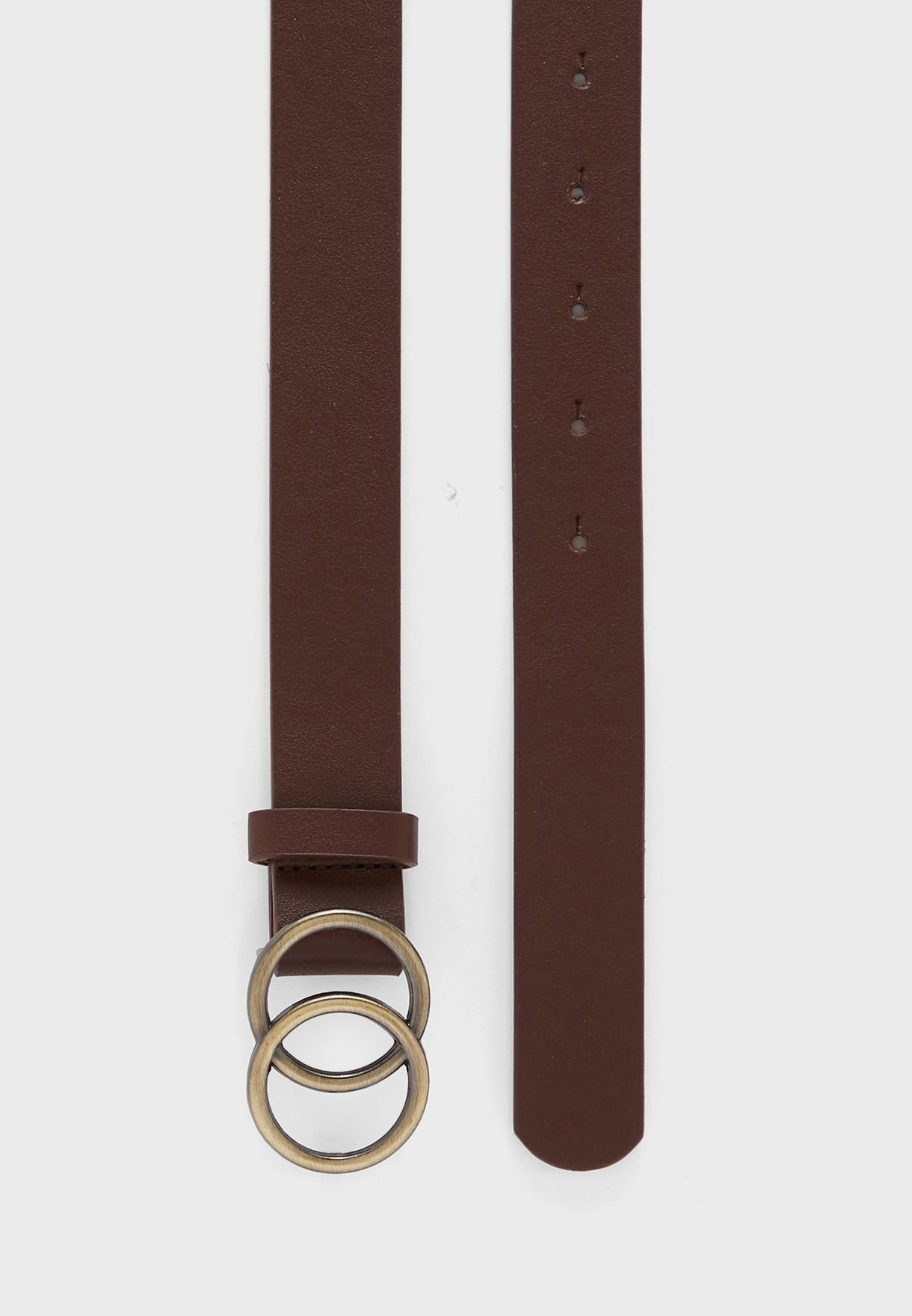 Pack Of 3  Double Circle Buckle Belt