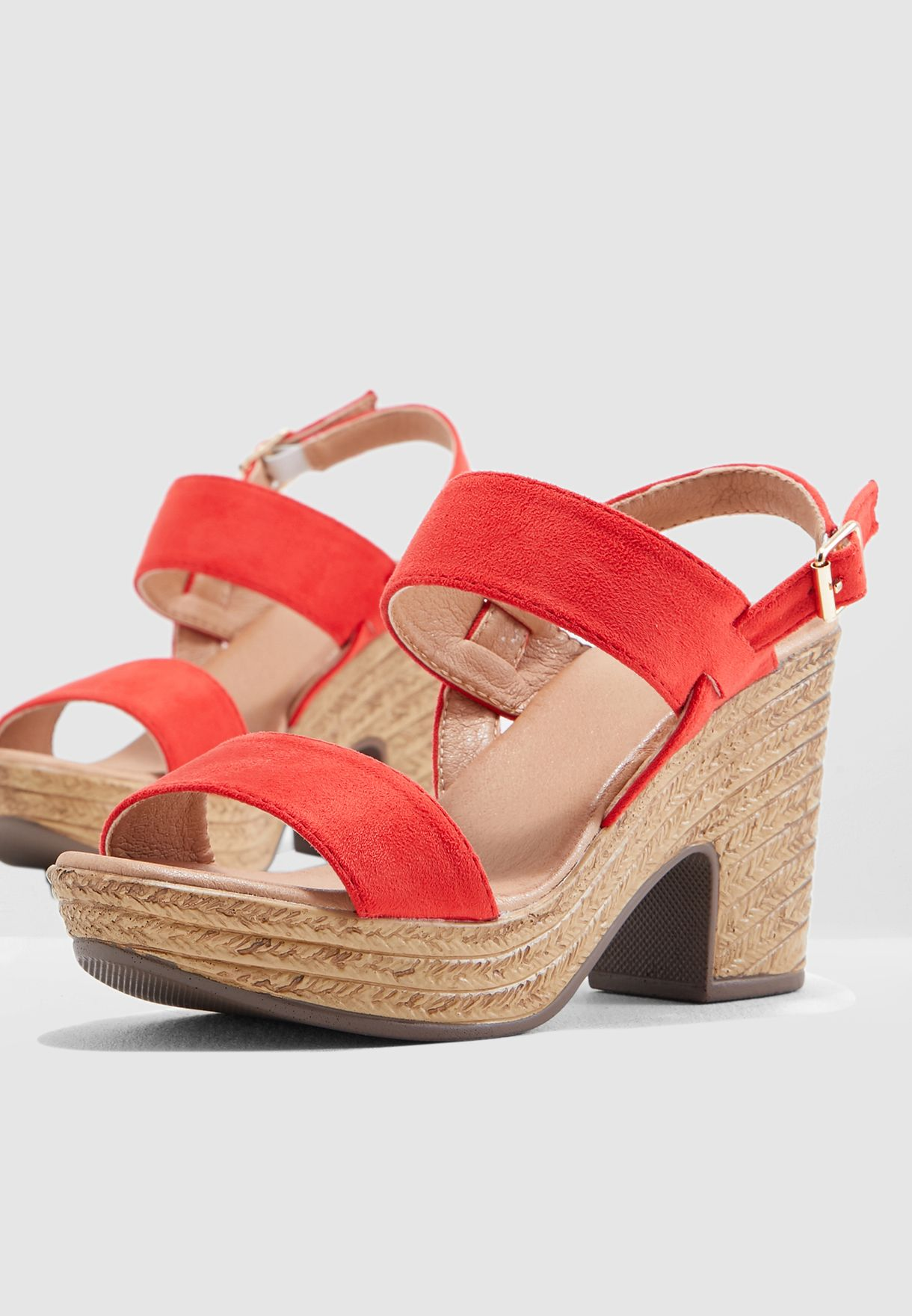 Double Strap Wedge Heel Sandal