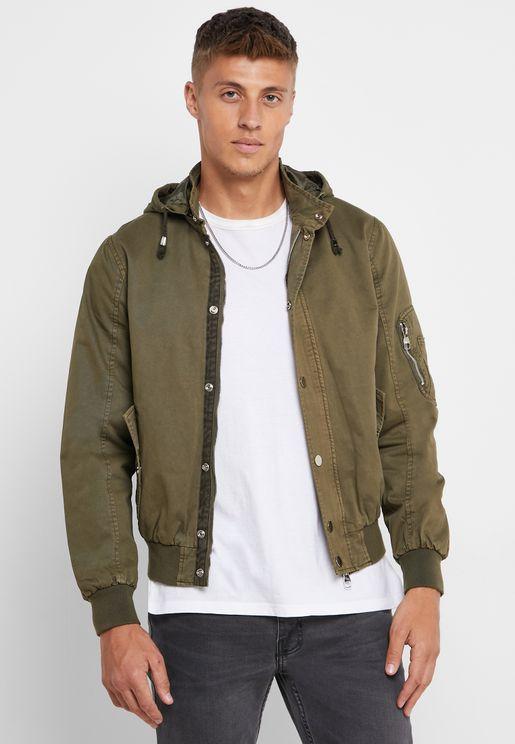 Hooded Short Parka Jacket