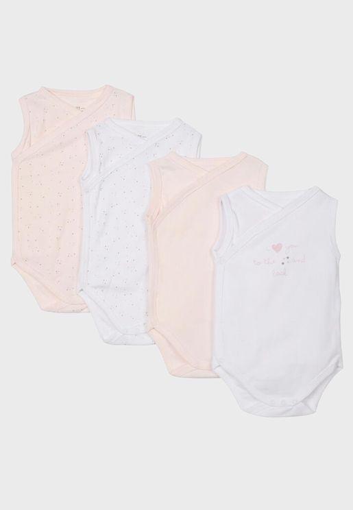 Infant 4 Pack Assorted Bodysuit