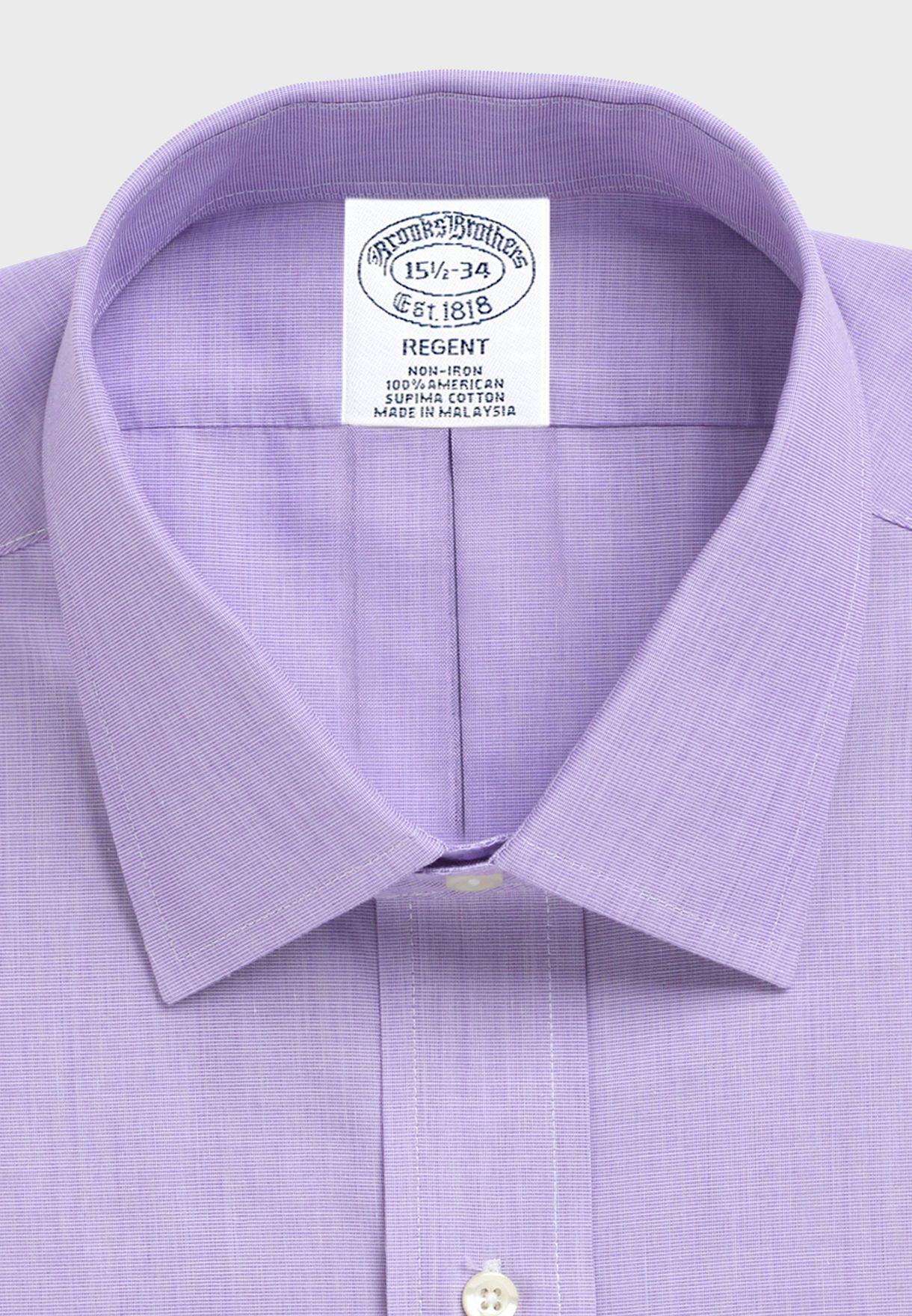 Slim Fit Spread Collar Shirt