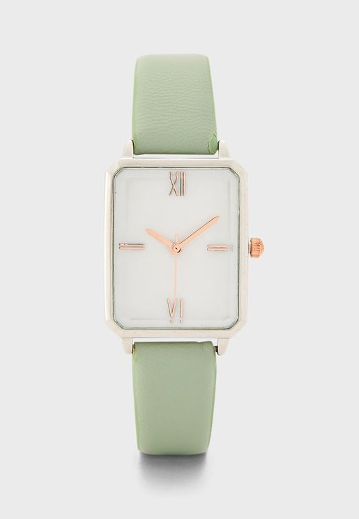 Mother of Pearl Dial Rectangle Watch