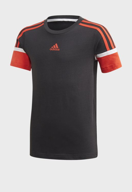 Youth Bold 3 Stripe T-Shirt